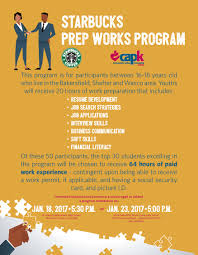 starbucks prep works program capk starbucks prep works program