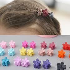 <b>5pcs Cute</b> Baby Girls Fashion Small Hair Candy Color <b>Flower</b> Claw ...