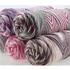 <b>3 Pcs</b> / Lot Mixed Color Baby Cotton Yarn <b>Natural Soft</b> Milk Thick ...