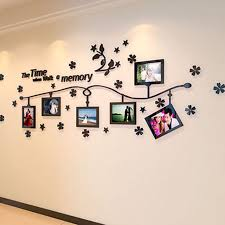 Small Picture Aliexpresscom Buy Photo Frame and Flower Design Acrylic 3D Wall