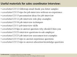 14 useful materials for sales coordinator sales coordinator cover letter
