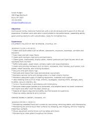 commercial cleaning resumes template commercial cleaning resumes