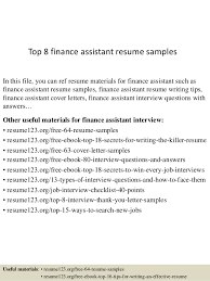 top  finance assistant resume samplestop  finance assistant resume samples in this file  you can ref resume materials for