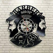 <b>A Gentleman's Barber Shop</b> LED Lighted <b>Wall</b> Clock ~ Made in USA ...