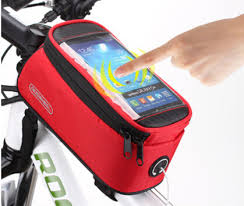 free shipping <b>waterproof bicycle bike</b> frame pannier front cell phone ...