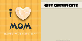 mother s day gift certificate templates mothers day gift certificate templates customize