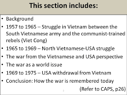 case study vietnam how was a small country like vietnam able to  this section includes background  to   struggle in vietnam between the south vietnamese