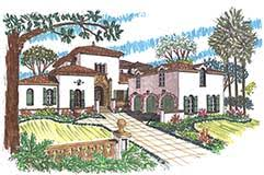 Search Home Plans    Period Style Homes Bedrooms    Baths  Stories      Living S F   Spanish  Spanish Revival