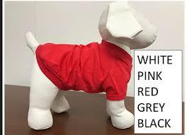 <b>High Quality Plain</b> Blank Dog Tee Shirt Tank <b>Top</b> Clothes for Dogs ...