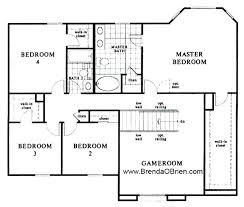 Upstairs Floor Plans   HEDS F SIUpstairs Floor Plans KB Model Upstairs Floor Plan