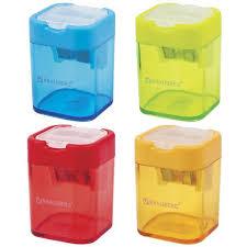 """36 ₽ — <b>Точилка BRAUBERG</b> """"Peak"""" с контейнером, пластиковая ..."""