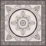 <b>Керамическая</b> плитка <b>Absolut Keramika</b> Roseton Nero 4 <b>декор</b> 45х45