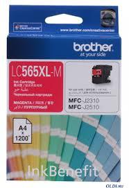 <b>Картридж Brother LC565XLM</b> пурпурный (<b>magenta</b>) 1200 стр. для ...