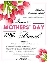 mother s day brunch st thomas n apostolic church flyer raffle items