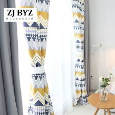 2019 <b>Fashion Geometric Custom Curtain</b> Contracted Contemporary ...