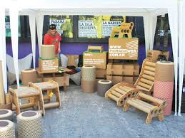 pomadas recycled cardboard furniture gives scrap tubes a seco cardboard tubes