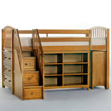 light brown lacquered oak wood corner bunk bed which equipped with elegant home decorators beautiful murphy bed desk