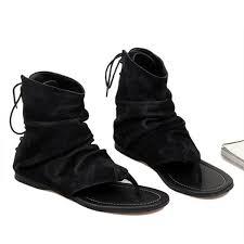 <b>US6 10</b> Vintage <b>Men</b> Genuine Leather Roman Style T Strap Flip ...
