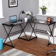 desk alluring corner writing desks glass table top metal base material x shape base contemporary style alluring small home corner