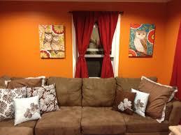 ideas burnt orange: burnt orange and brown living glamorous burnt orange and brown living room