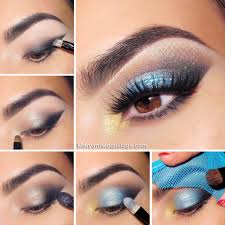 smoky blue eye makeup tutorial for summer
