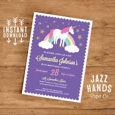 unicorn birthday invitation unicorn birthday invitation template diy printable unicorn party invitation unicorns rainbows instant