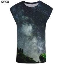 <b>KYKU</b> Galaxy Tank Top <b>Men</b> Black Stringer Forest <b>Mens</b> ...