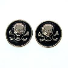 "<b>20pcs</b> 7/8"" <b>Black Gold Tone</b> Skull Buttons Plastic Buttons Fit Sewing ..."
