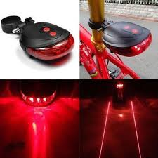 <b>5LED</b> Lamp 2 Laser Night <b>Bike</b> Tail Light MTB Safety Warning ...