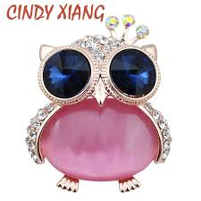 <b>CINDY XIANG Vintage Navy</b> Blue Eye Owl Baby Brooches for ...