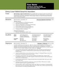 entry level administrative assistant resume entry level sample resume template professional administrative volumetrics co sample resume for admin manager sample resume for administration manager
