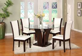 Round Glass Dining Room Table Dining Glass Top Round Dining Table Dining Giovani Black White