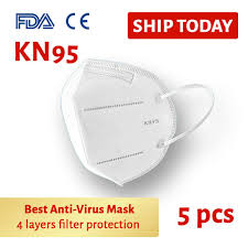 KN95 Anti-Bacterial <b>Face Mask 5 pcs</b>/pack | Nature Pac