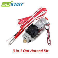 <b>3DSWAY 3D Printer Parts</b> 3 in 1 out Multi-color Extruder Hotend Kit ...