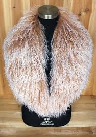 <b>On Sale XX Large Real</b> Genuine Mongolian Wool Fur Collar Scarf ...