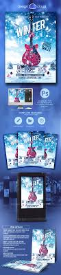 winter fest music flyer template by design cloud graphicriver winter fest music flyer template holidays events