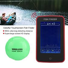 Qiilu 500 Meters Wireless Colorful Touchscreen <b>Sonar Fish Finder</b> ...