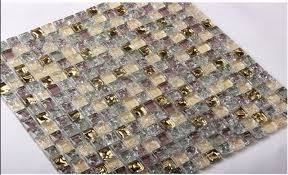 glass tile plated mosaic aliexpresscom buy purple gold crystal glass gold plated mosaic tile md