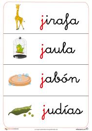 Resultado de imagen de imagenes consonante j