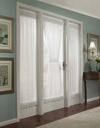 glass door window treatments panels