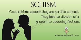 Image result for schism