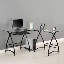 glass office desk famous manufacturer reviews furniture walker edison l shaped black computer small office beautiful office desk glass