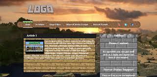 minecraft website template art shops shops and requests minecraft website template