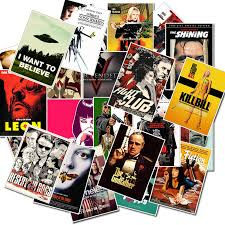 <b>25pcs</b> Pack <b>Classic Movie</b> Posters Kill Bill Stickers Waterproof PVC ...