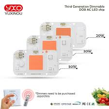 1pcs Hydroponice AC 220V 20w 30w <b>50w cob led grow</b> light chip ...