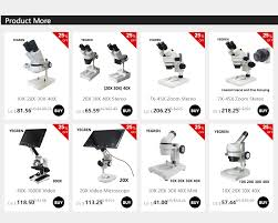 <b>10X 20X 30X 40X Binocular Stereo Microscope</b> Illuminated ...
