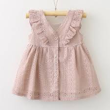 Baby Girls Clothes Dress <b>2019</b> New <b>Summer Children</b> Solid Color ...