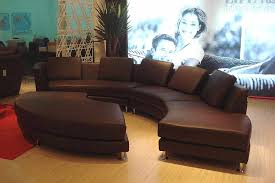 roller espresso leather sectional round sofa best leather furniture manufacturers