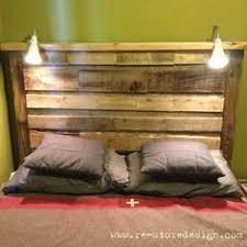 pallet wood headboard with lights bedroom headboard lighting
