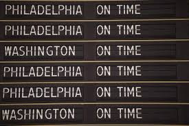 Amtrak riders cautious as NY Philadelphia services resume   NY     New York Daily News     An information board announces the morning train departures as Amtrak resumes service between New York City